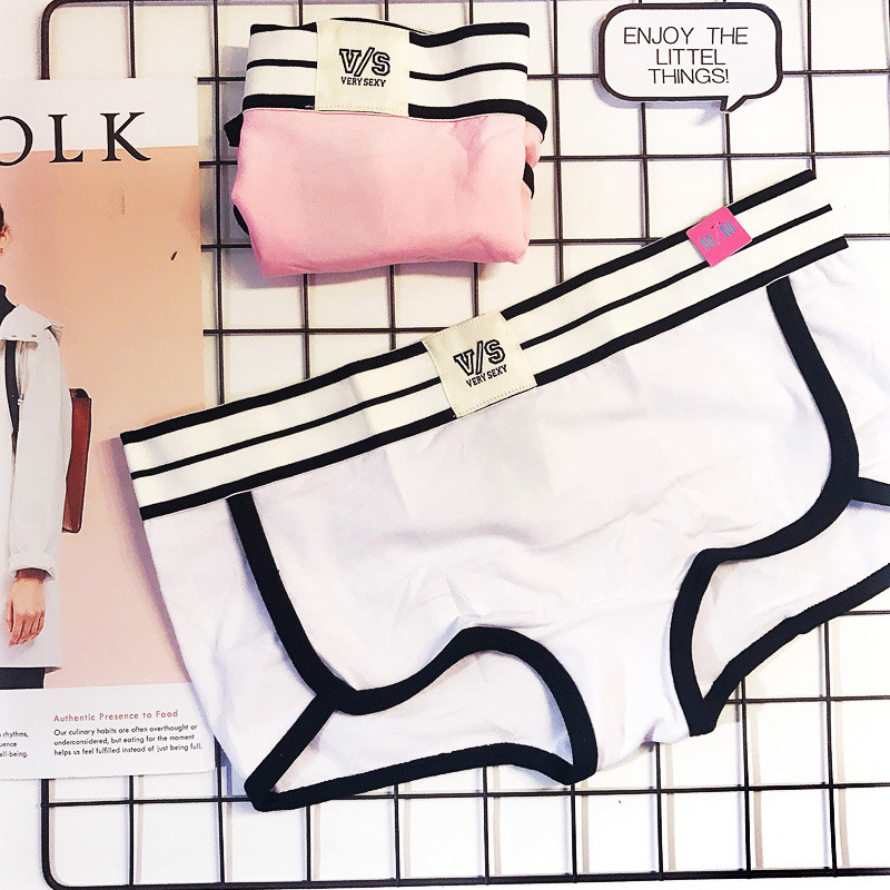 PINK Black, White, Grey, Pink, Pure Cotton Sports Wind Letter Ladys Flat Pants