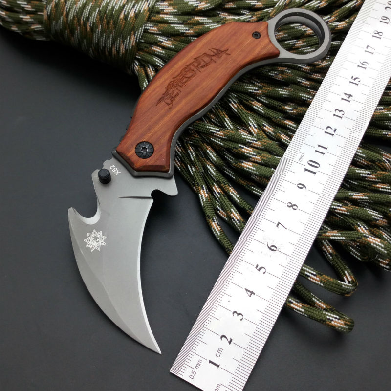 NEW FOX Karambit Claw font b Knife b font Folding font b Knife b font 5CR13MOV