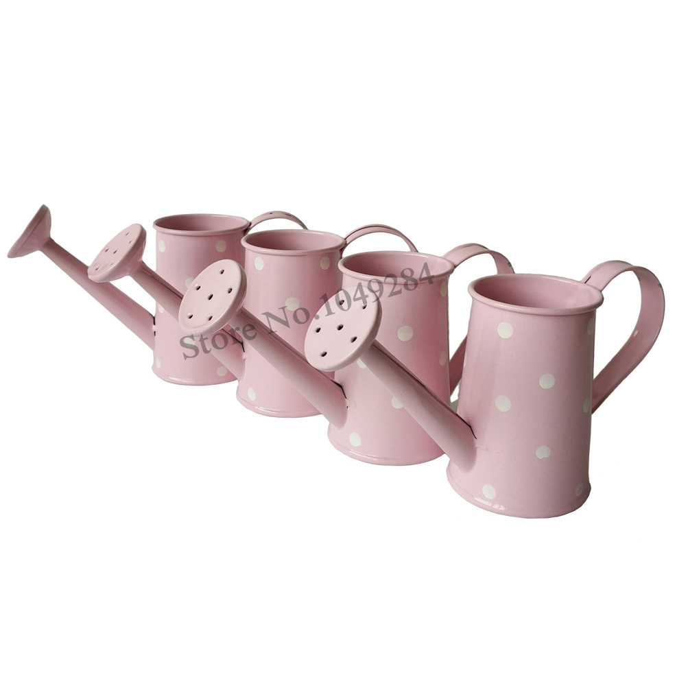 Free Shipping Pink Metal Favor Pail Mini Small Watering