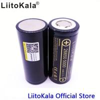 2PCS LiitoKala 26650 50A 5000mah 26650 Li Ion 3 7v Rechargeable Battery For Flashlight 20A