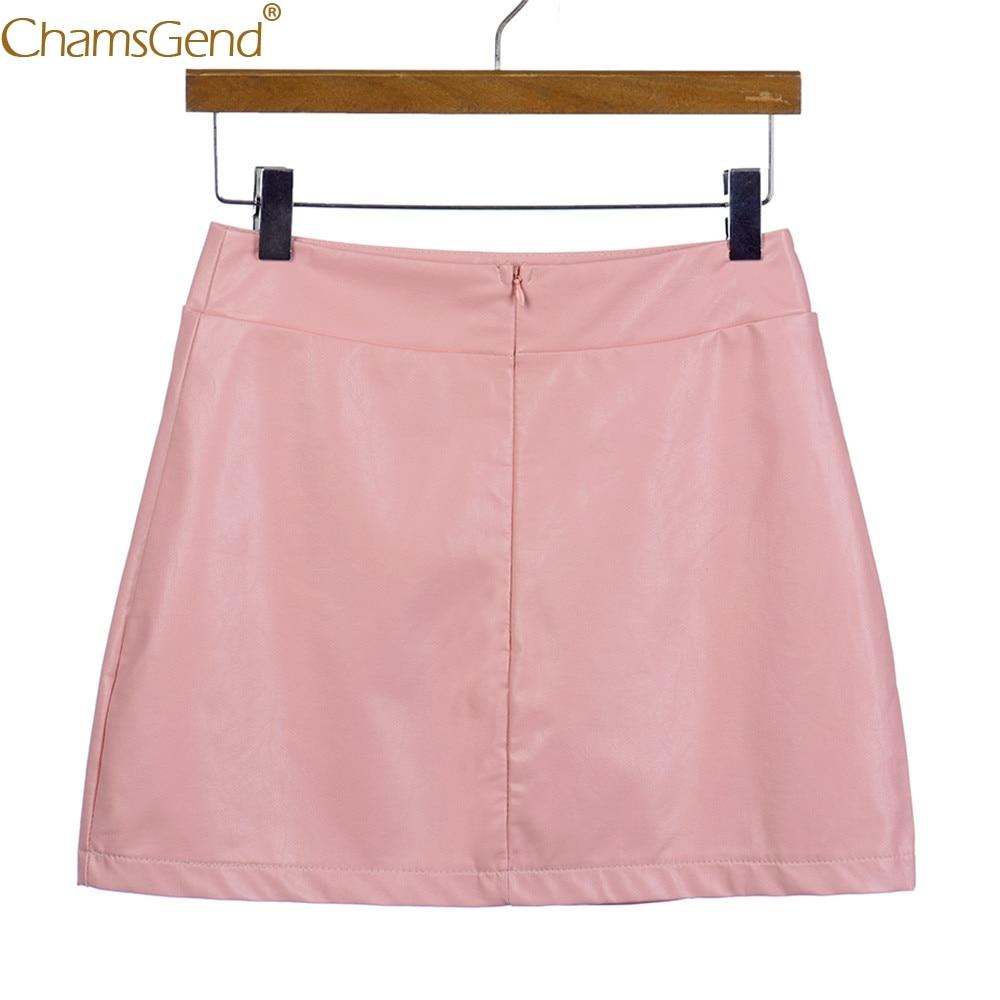 Women Ladies Sexy summer skirts womens girls Summer  Pencil Skirt High Waist Slim Mini Skirts For Women Bandge Leather Jun28