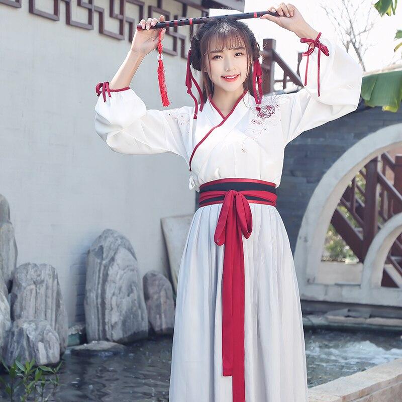Hanfu female improvement martial arts style costume fairy fairy elegant fresh and elegant ancient Chinese style suit