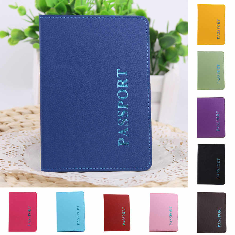 High Quality 2019 Passport Holder Protector Wallet Business Card Soft Passport Cover Leather Dropshipping 1.42