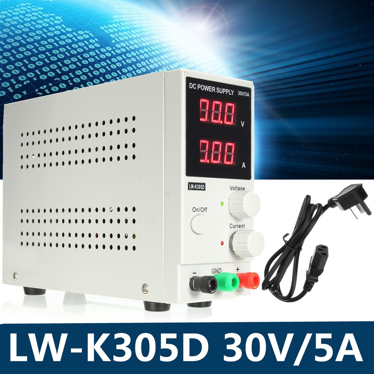 Switching DC Power Supply Adjustable Variable 0-30V / 0-5A Adjustable Switching Regulated Power Supply Digital kxn 3020d dc power supply 30v20a adjustable power supply 30v 20a led high power switching variable dc power supply 220v