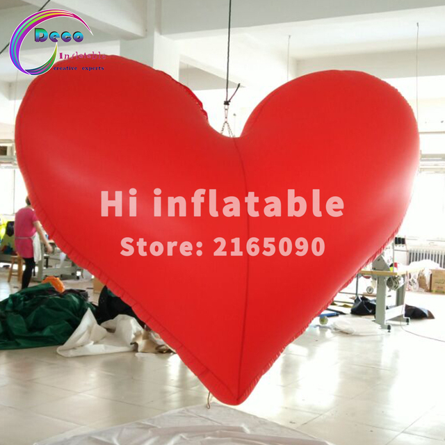 1m, 2m,3m Hot Sale Led Lighted Decorative Inflatable Heart Balloon For  Valentineu0027s