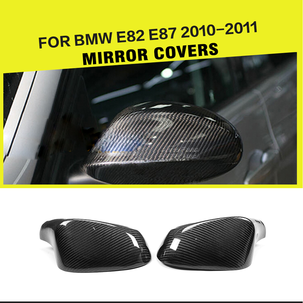Carbon Fiber Rear View Mirror Covers Side Mirror House For BMW E82 E87 2010-2011