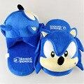 """Envío gratis sonic hedgehog plush zapatillas/zapatos cartoon invierno zapatillas indoor shoes 10.5 """"/27 cm"""