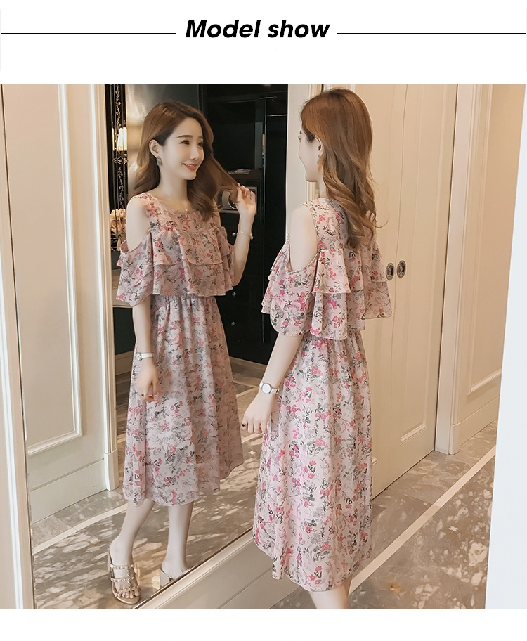 Pregnant Nursing Dress Off Shoulder print Maternity Breastfeeding Dresses For Photo Shoot Chiffon Maternity Dress Party Clothes 69