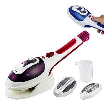 Hand - held steam brush ceramic underplate hanging ironing machine 2 in 1 portable steam iron brush NEW