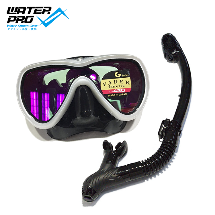 GULL WATER PRO MASK SNORKEL SET (VADER MASK+ DS DRY SNORKEL) Scuba Diving Snorkeling gull super bullet snorkel for diving scuba
