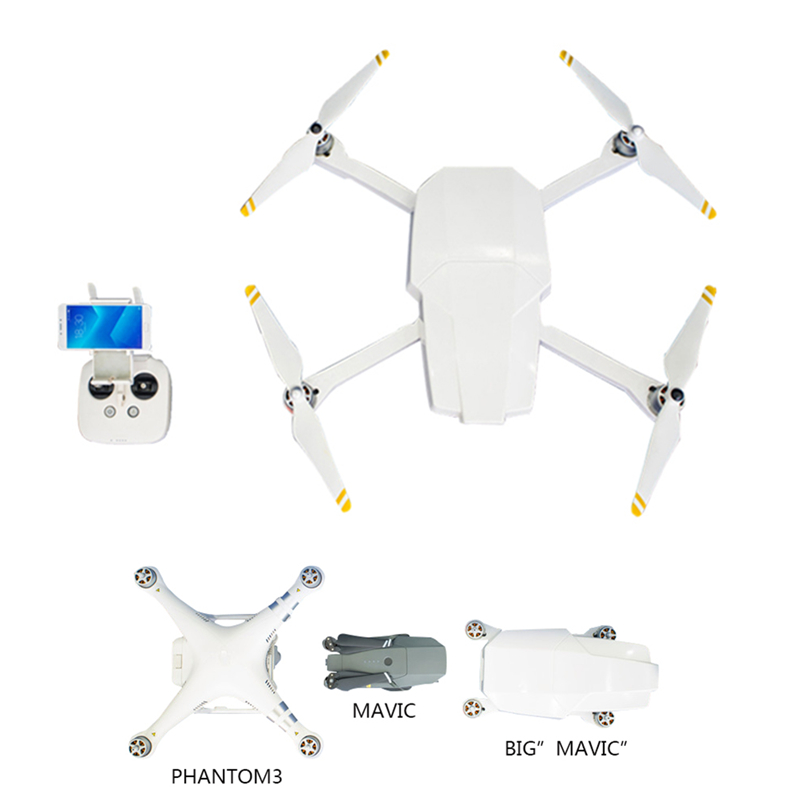 DJI Phantom 3 Standard Transforms To Foldable Drone Like Big Mavic DJI Phantom 3S Folding Drone Body Shell Case Protective Cover 4pcs protective guard protective cover for dji phantom 4