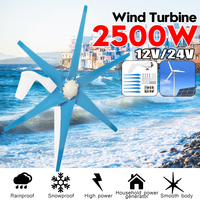 S2 2500W 12V 24 Volt 6 Wind Blades Wind Turbines Generator Wind Power Turbines +Wind Controller Gift Fit for Home Lights Or Boat
