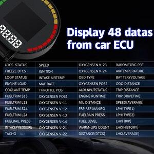 Image 4 - P15 HD TFT OBD Digitale Geschwindigkeit Hud Display Auto Tacho OBD2 Turbo Boost Druck Meter Alarm Öl Wasser Temp Gauge code Reader