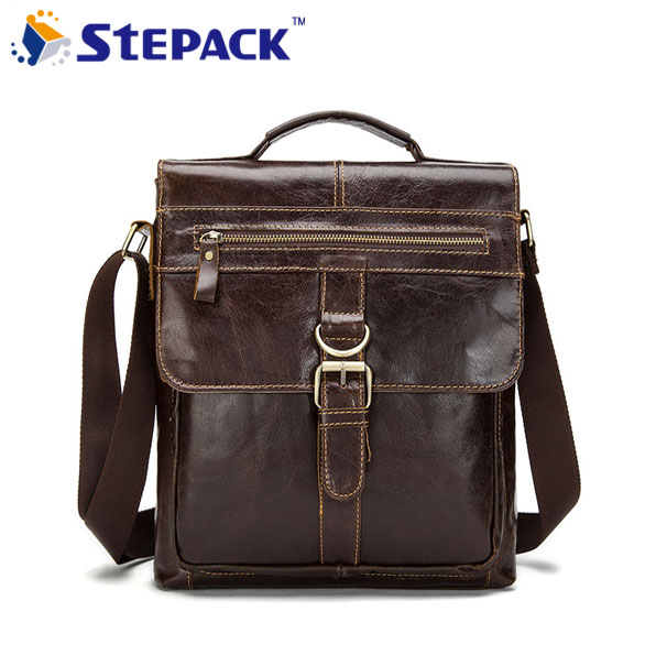 High Quality Vintage Cowhide Leather Men Bag Fashion Men Messenger Bag Handbag Business Briefcase Bag Men Shoulder Bag WMB0136 купить в Москве 2019