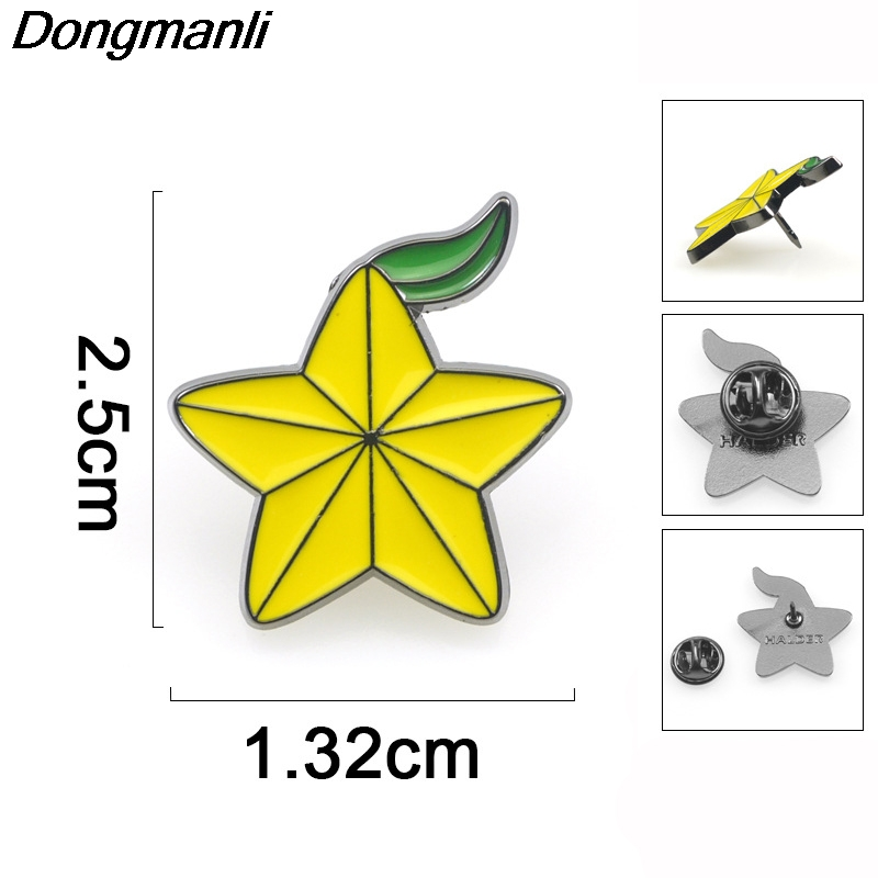 P3921 Dongmanli Kingdom Hearts Paopu Fruit Metal Enamel Pins and Brooches for Lapel Pin Backpack Bags Badge Gifts in Brooches from Jewelry Accessories