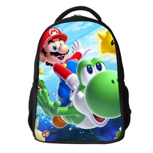 new fashin 2017 cartoon doll super mario school backpack high quality mario bag for boys and girls mario bros bag minions free