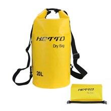 20л Водонепроницаемый сухой мешок для хранения Открытый Дайвинг Плавание рафтинг Каякинг рюкзак