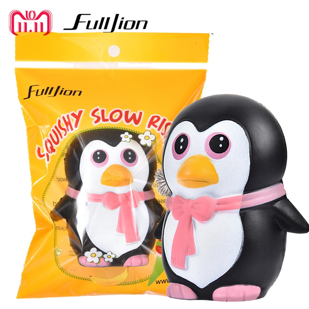 Fulljion Squishy Slow Rising Penguins Antistress Stress Relief Toys Novelty Gag Toys For Adult Surprise Popular Squishy Animals yoursfs 18k rose white gold plated letter best mum heart necklace chain best mother s day gift
