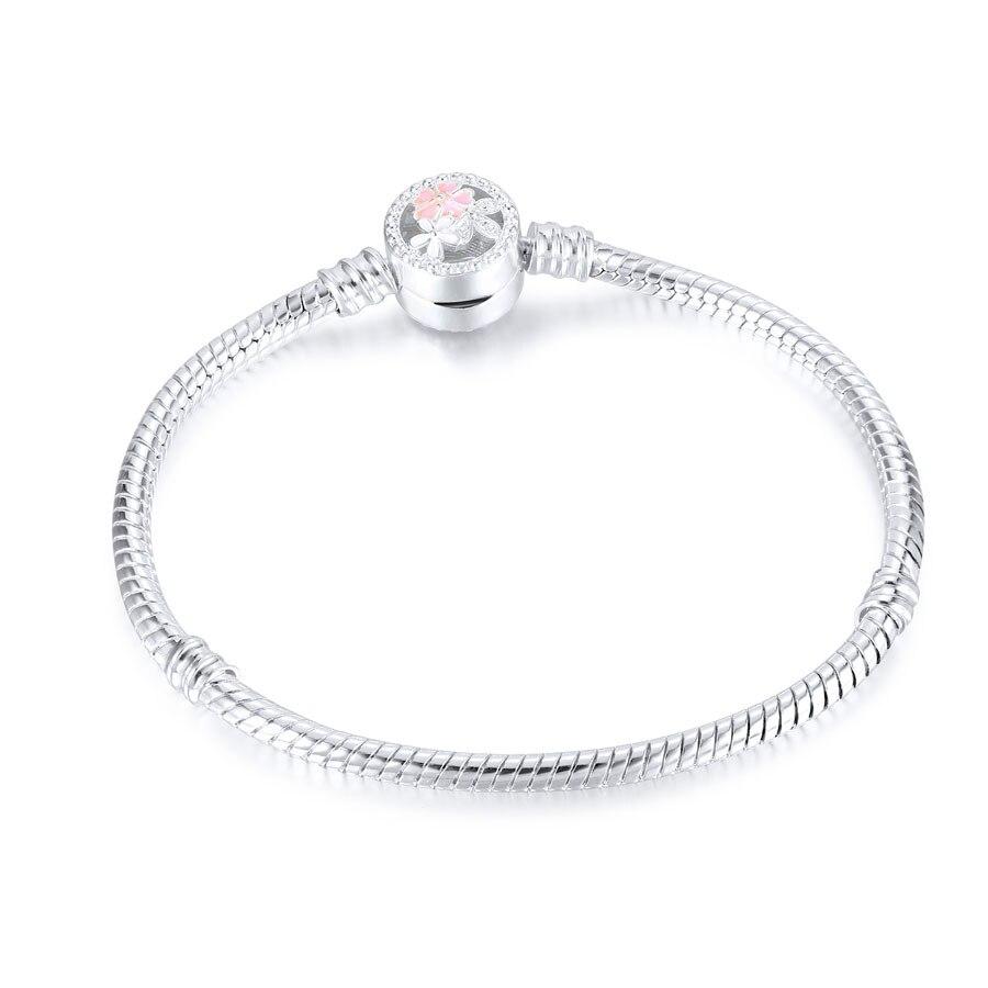 Высокое качество 16-21 см змейка цепь звено браслет подходящая Европейская Подвеска DIY браслет для женщин DIY Мода для украшения подарка - Окраска металла: C005