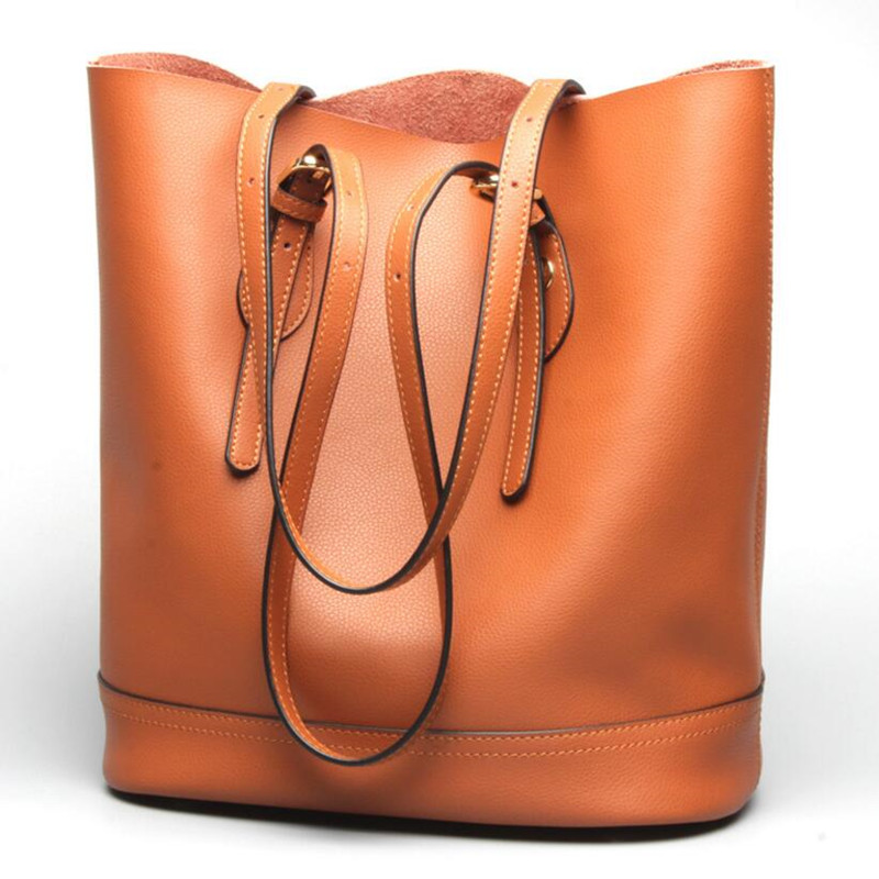 New Genuine Leather Handbag Women Shoulder Bags Ladies Handbags Women Shoulder Crossbody Bags Cowhide Ladies Casual Bag women genuine leather handbags ladies personality new head layer cowhide shoulder messenger bags hand rub color female handbags