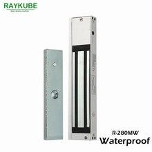 Raykube 280 kg (600lbs) fechadura elétrica magnética à prova dwaterproof água para o sistema de controle acesso da porta R 280MW