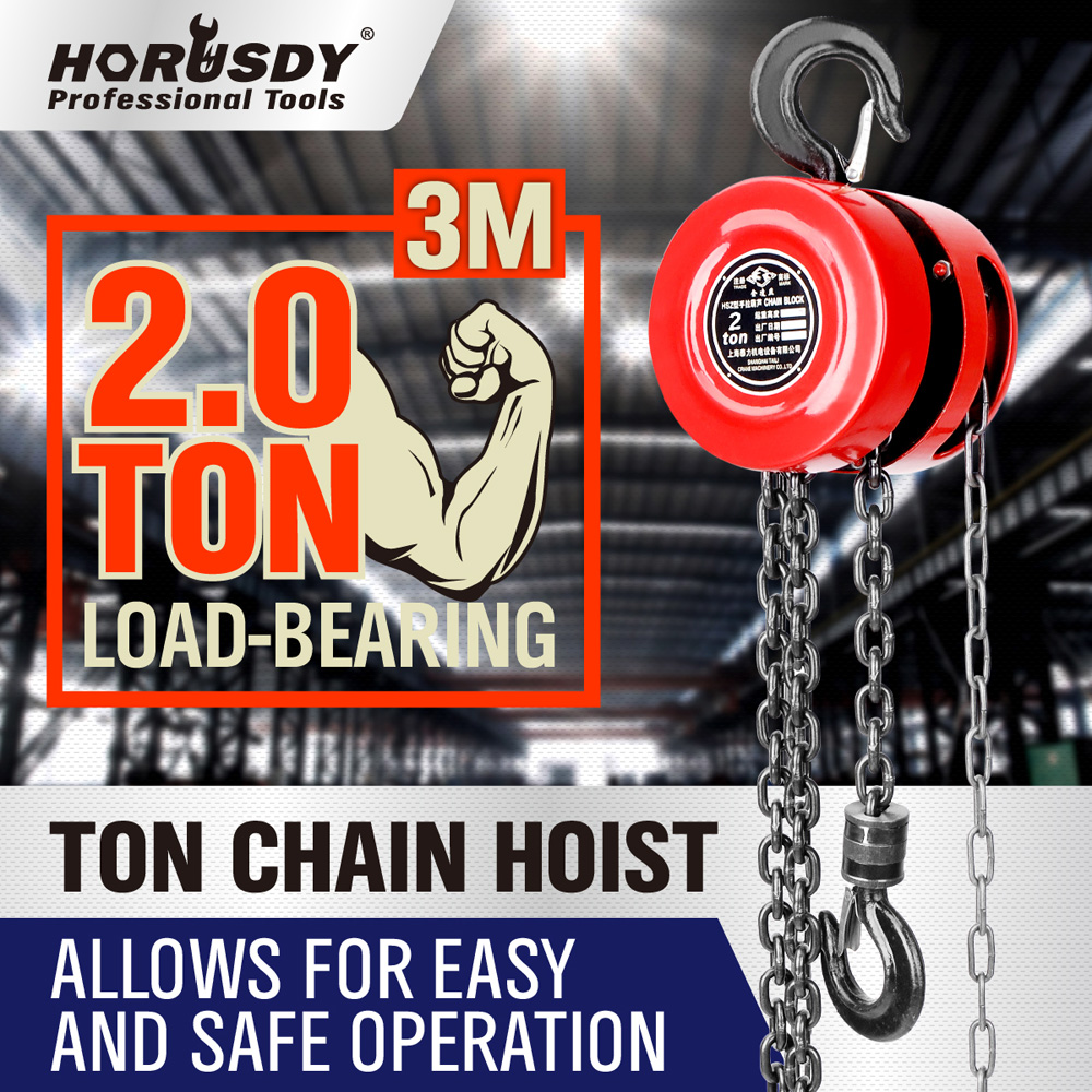 Block and Tackle Chain Block Hoist 2 Ton 3m Chain Lifting Pulley Tool BRAND NEW цены