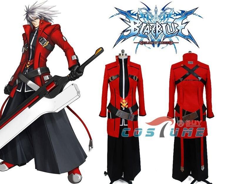 New Arrivals BlazBlue Calamity Trigger Jin Kisaragi font b Men b font Red Black font b