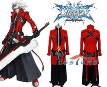 New Arrivals BlazBlue: Calamity Trigger Jin Kisaragi Men Red Black Jacket Pant For Men Halloween Cosplay Costume Custom Made
