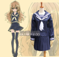 Aisaka Taiga Cosplay Costumes Anime TIGER DRAGON Free Shipping (Top + Skirt + Necktie)