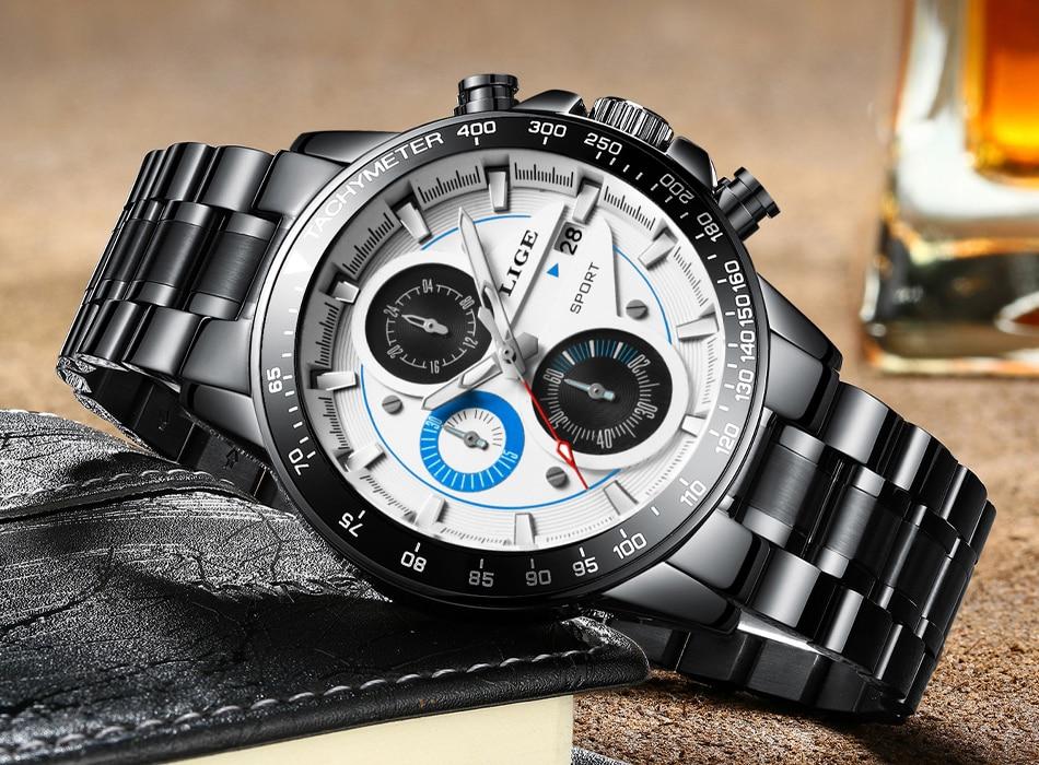 HTB1hbBccO0TMKJjSZFNq6y 1FXaM LIGE Fashion Men Watches Male Creative Business Chronograph Quartz Clock Stainless Steel Waterproof Watch Men Relogio Masculino
