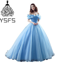 YSFS Luxurious V-neck Ball Gown Quinceanera Dresses Lace up Back Tulle Vestidos de Debutante 15 Anos Prom Birthday Dresses