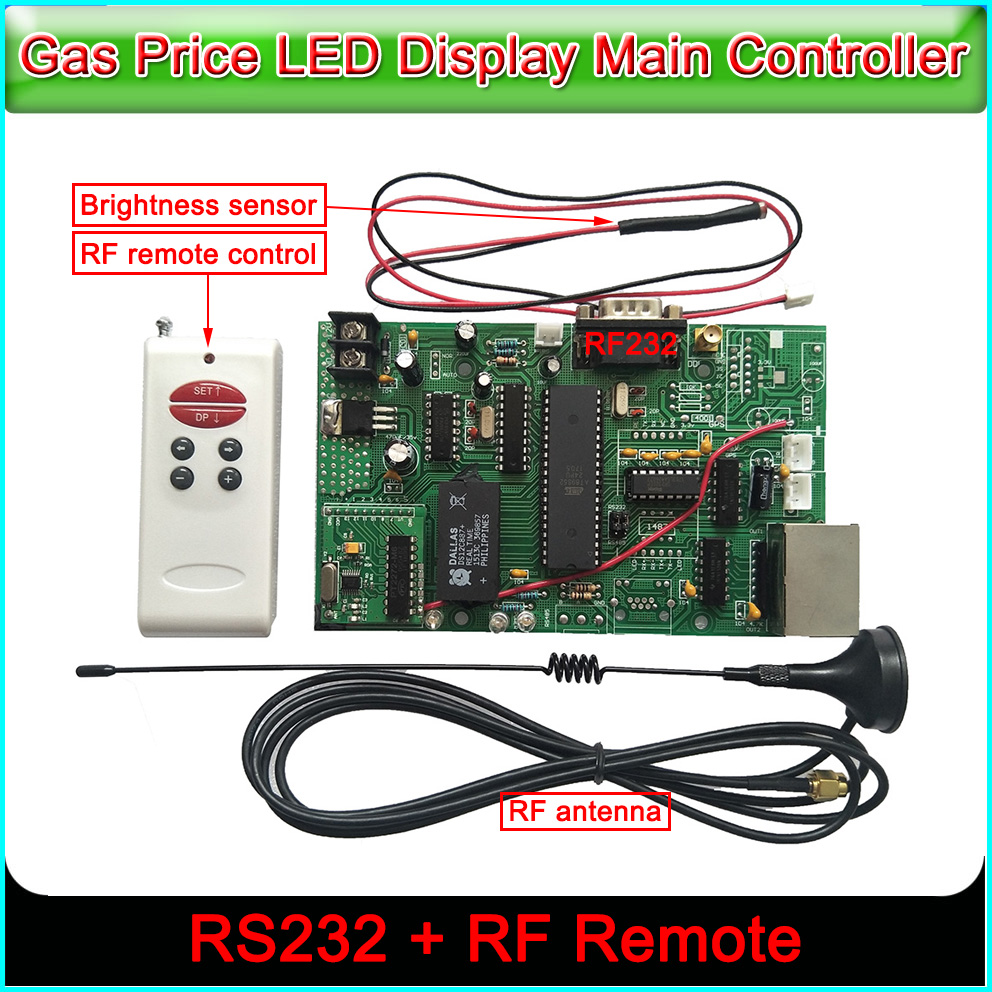 led sign control board all gas oil price module main control card RS232&RF control cardled sign control board all gas oil price module main control card RS232&RF control card