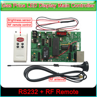led sign control board all gas oil price module main control card RS232&RF control card