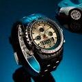 Digital Analog Waterproof Sport Dual Time Watch With Stopwatch Week Alarm Calendar EL Backlight Bistec