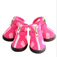 Non-Slip Rain Honeycomb Fabric Shoes Fashion Anti-collision Pet Dog Shoes Suitable For Small And Medium-Sized Pets 160118-13