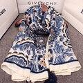 Богемия национальная тенденция супер большой кисточкой шарф цветок печати cashers мыс