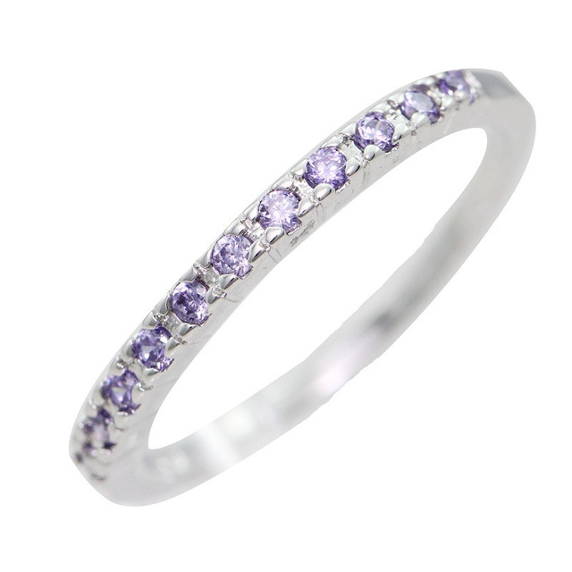 Megrezen Engagement Ring Style Silver Plated Wedding Jewelry Small