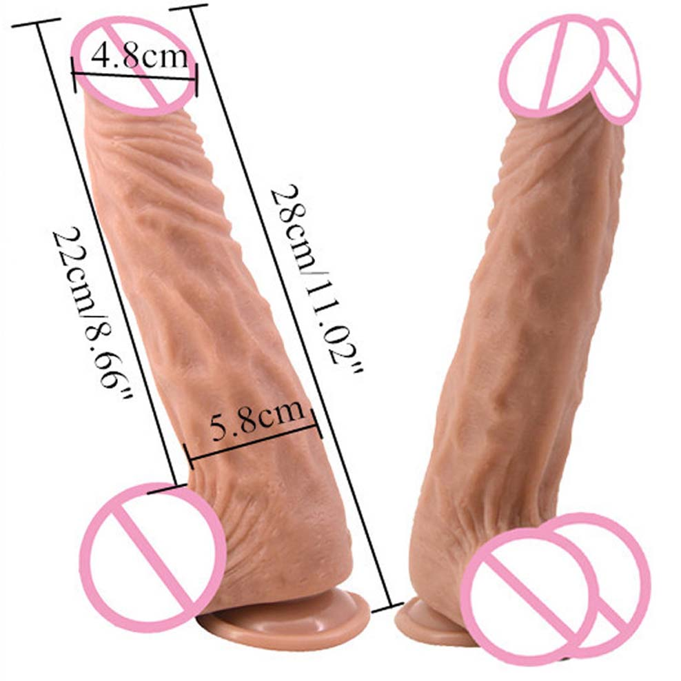 FAAK 28cm Long Realistic Dildo Women And Man Masturbation Sex Toy Huge Dildo Penis With Strong Suction Cup