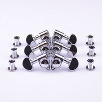 1Set 3R 3L Genuine Grover Guitar Machine Heads Tuners 1 18 Chrome Without Original Packaging