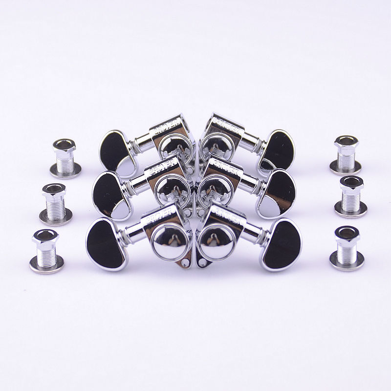 1Set 3R-3L Genuine Grover Guitar Machine Heads Tuners 1:18 Chrome ( without original package ) цена