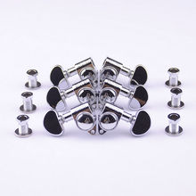 1Set  3R-3L Genuine Grover Guitar  Machine Heads Tuners  1:18  Chrome  ( without original packaging )