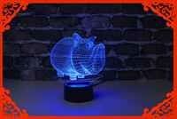2016 Lastest Coming Gift 3d Led Night Light Table Lamp Lucky Pig For Halloween Happy Birthday