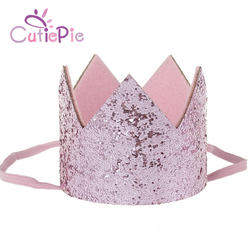 CUTIEPIE Kinds of Bling Mini Felt Glitter Crown Headband For Birthday Party Favors DIY Garments Hair Decorative Accessories