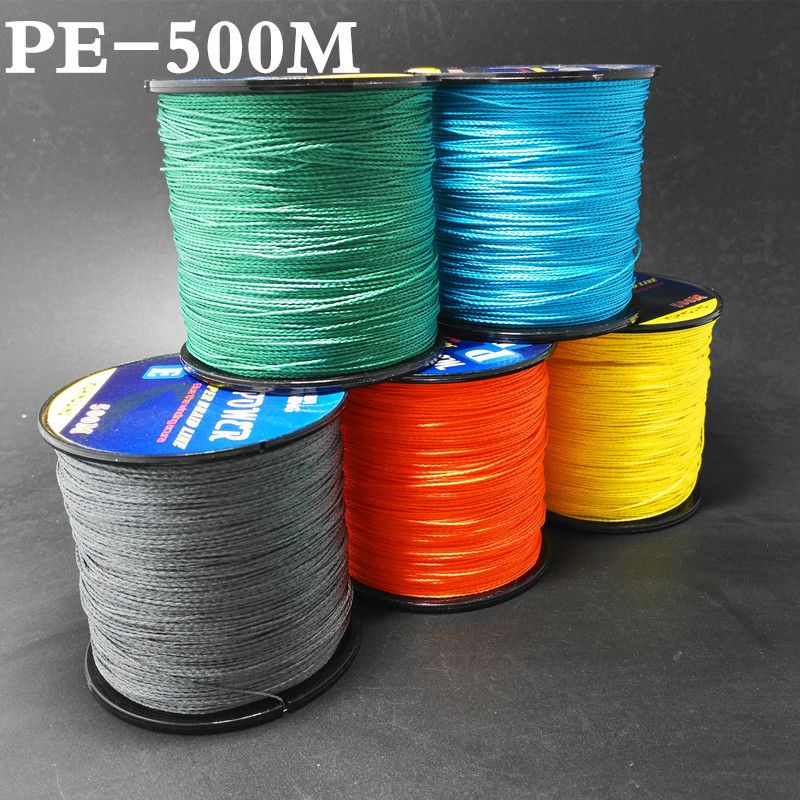 500M Germen Quality Max Power Series 4 Llinynau Siapan Super Strong Amlfesuriad AG Braided Line Pysgota 10 20 30 40 60 90LB