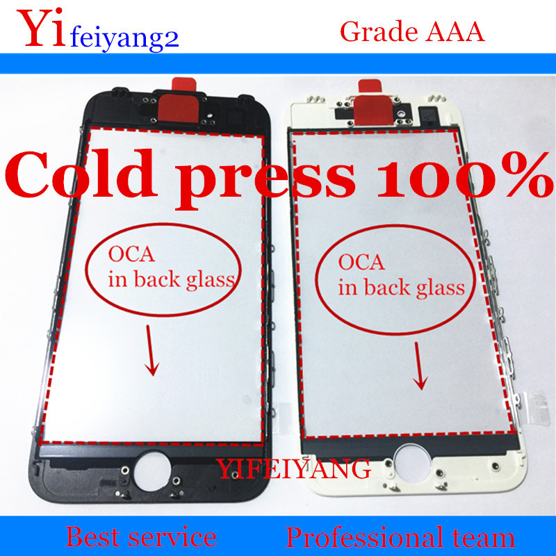 50pcs A quality 100 Cold press Front Glass Bezel OCA For iPhone 8 7 6 6s