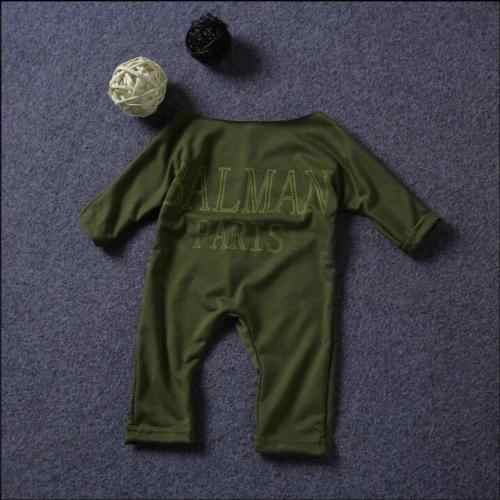 0076c31c60f9 ... Newborn Infant Baby Girls Long Sleeves Romper Army Green Off Shoulder  Jumpsuit Outfits Balman Sunsuit Clothes ...