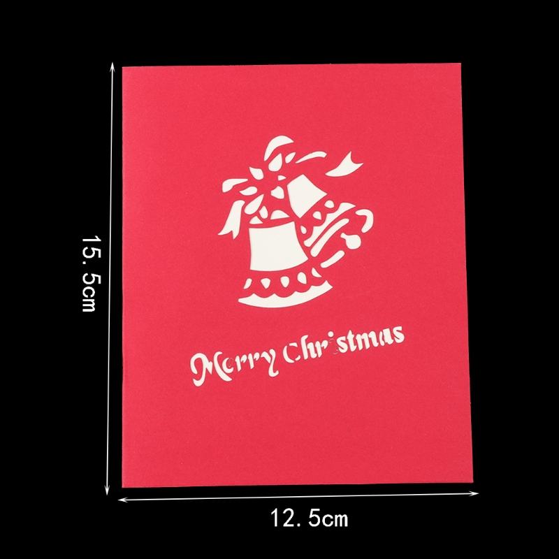 3D Handmade Creative Christmas Tree Greeting Card New Year Gifts Best Wishes Art