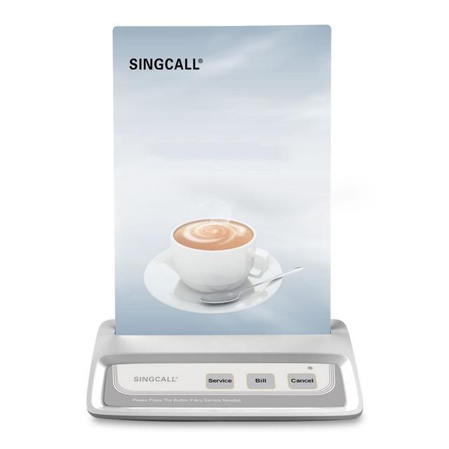Singcall sem fio chamando system, 3 teclas de botão, loja de café, serviço de restaurante, cor branca