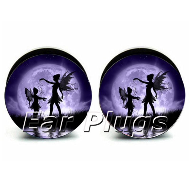 Wholesale 60pcs fairy plug acrylic screw fit ear plug flesh tunnel ear gauges mix sizes 6mm-25mm A0211