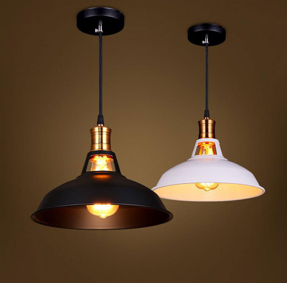 Free shipping vintage pendant light industrial for Industrial bulb pendant